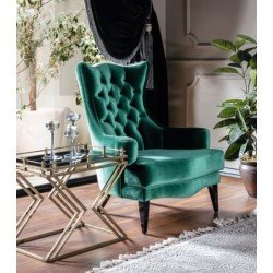 Зеленое при каминное кресло Милан REST