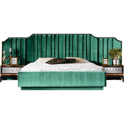 Элитная мягкая зеленая кровать 1800 Милан REST