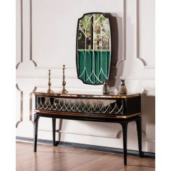 Консольный столик с зеркалом Милан в стиле АРТ-Деко