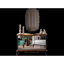 Комод Милан с резным зеркальным декором на фасадах REST