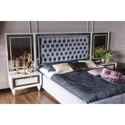 Кровать с мягким изголовьем в стиле капитоне Валенсия REST