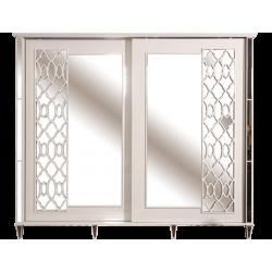 Шкаф бельевой для одежды Анемона с зеркалом