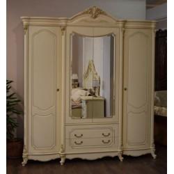 Четырехдверный шкаф для одежды с зеркалами Венеция