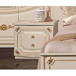 Белая квадратная прикроватная тумбочка для спальни Адель