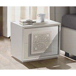 Белая прикроватная тумбочка в стиле модерн Дама Вайт