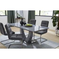 Серый большой раскладной стол Конкорд (Concord T-904)