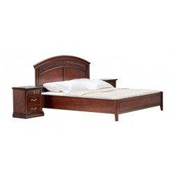 Двухспальная кровать 1800 с деревянным изголовьем Анжелика