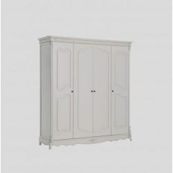 Белый деревянный шкаф в спальню Адель