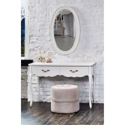 Белый туалетный стол консольного типа Анастасия