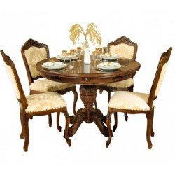 Круглый раскладной обеденный стол Регал