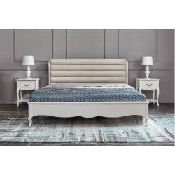 Белая кровать 1400 из натурального дерева Анастасия