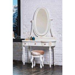 Белый туалетный столик с зеркалом Адель