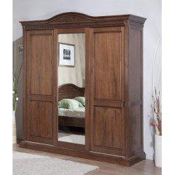 Трехдверный шкаф-купе для одежды с зеркалом Венеция