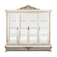 Большая четырехдверная витрина Лувр в стиле барокко