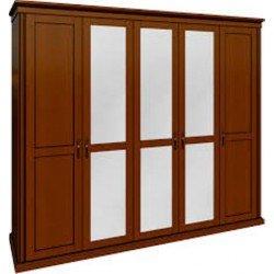 Пятидверный шкаф с зеркалом Доминика