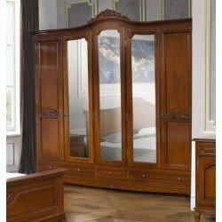 Одежный пятидверный шкаф в спальню Элипс