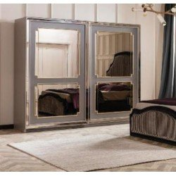 Шкаф-купе для спальни Ретро