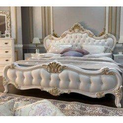 Белая кровать 1800 в стиле барокко Белла