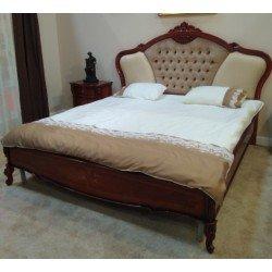 Двухспальная кровать с мягким изголовьем и короной Фирензе, Румыния