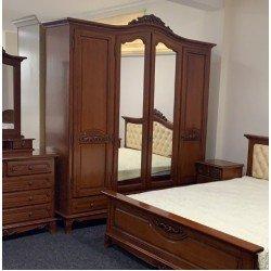 Классический дубовый шкаф для одежды на 4 двери Элипс, Симекс
