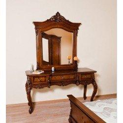 Резной туалетный столик с зеркалом Престиж