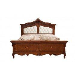 Деревянная кровать 1800 с мягким изголовьем Престиж, Люкс