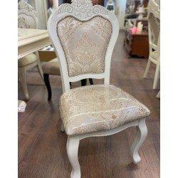 Белый обеденный стул 8013 с патиной шампань