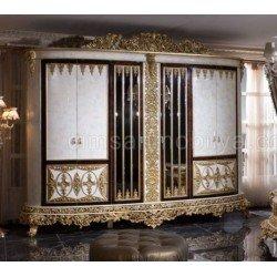 Большой шестидверный шкаф в спальню Роял