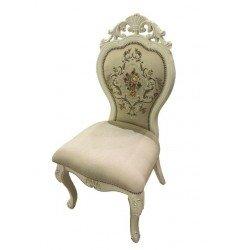 Белый деревянный стул 8045