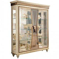 Витрина трехверная с декоративными стеклами Фантазия, Италия