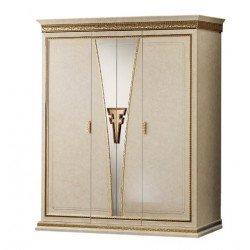 Трехдверный итальянский белый шкаф с зеркалом Фантазия, Аредоклассик