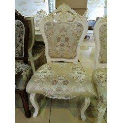 Белый деревянный стул с золотой патиной 668, Китай