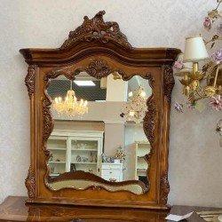 Зеркало к туалетному столу Мара Белла в резной деревянной раме, Румыния
