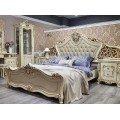Белая мебель для спальни в стиле барокко Клеопатра