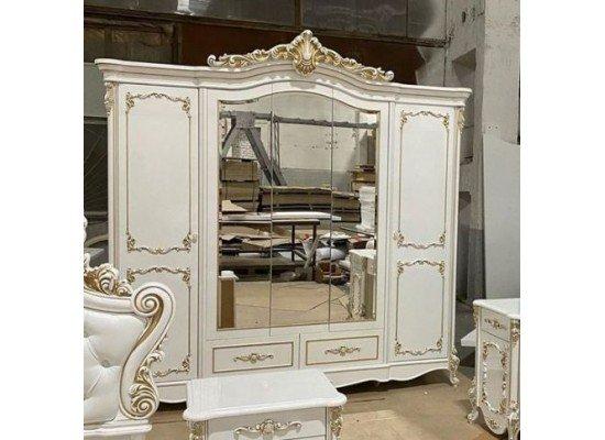 Пятидверный шкаф с зеркалами в стиле барокко Франческа