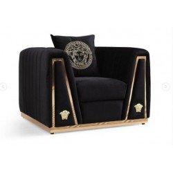 Большое кресло Версаче в черном цвете, Турция