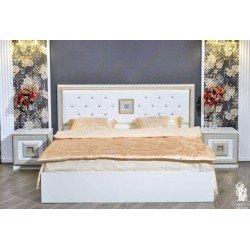Кровать 1800 с прямым изголовьем Богемия, Фортуна Мебель