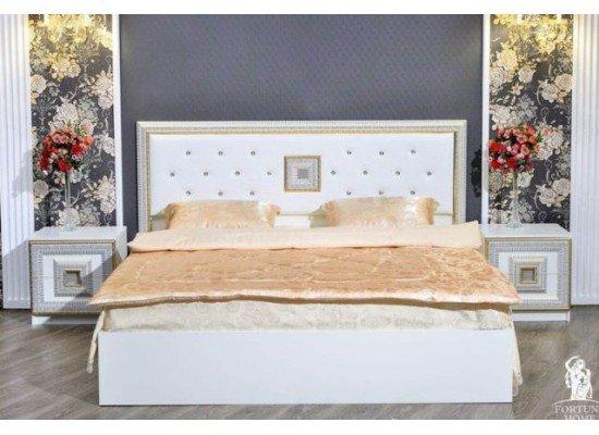 Кровать с прямым изголовьем Богемия, Фортуна Мебель