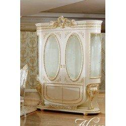 Белая двухдверная витрина для посуды Алисия, BIC