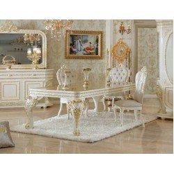 Белый прямоугольный стол на четырех ногах Алисия