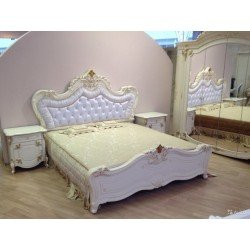 Белая двухспальная кровать 1800/2000 Элиана