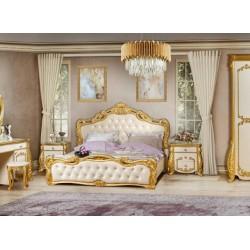 Двухспальная кровать в стиле барокко с золотом Амелия,