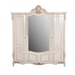 Белый классический шкаф с зеркалами для спальни Беатрис