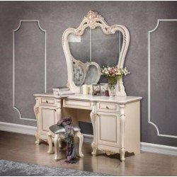 Стол туалетный с резным зеркалом для спальни Беатрис