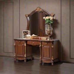 Коричневый дамский ( туалетный)столик Касандра