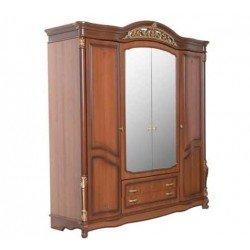 Шкаф четырехдверный с зеркалом для спальни Касандра.