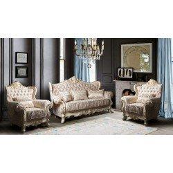 Классический набор мягкой мебели в стиле барокко Валенсия, СКФМ