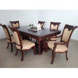 Большой раскладной обеденный стол Карпентер 208 в цвете махагон