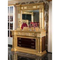 Большой комод с зеркалом в золоте в спальню Антик, CIM
