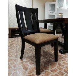 Обеденный деревянный черный стул Дрезден